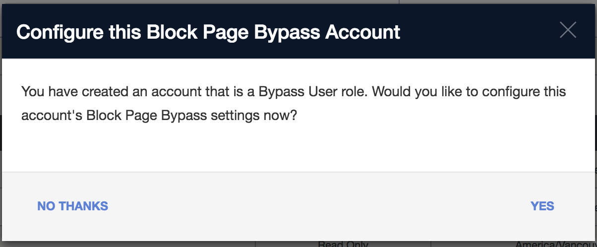 Setting up a Block Page, a Block Page Bypass User and a Block Page
