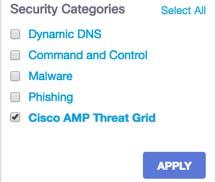 Cisco Umbrella: Cisco AMP Threat Grid – Cloud Integration