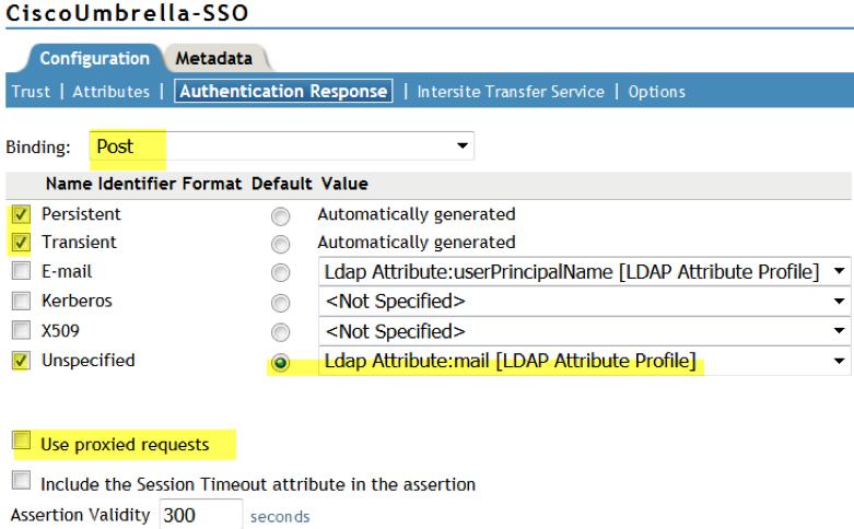 Cisco Umbrella SAML Integration – NetIQ Integration